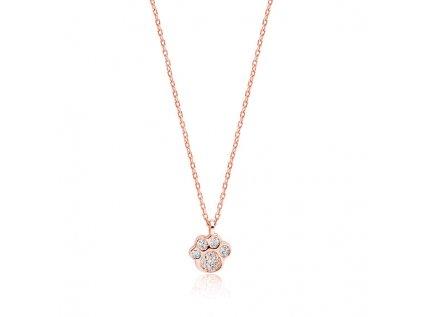 4203 Strieborný náhrdelník ROSE LABKA