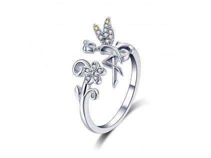 4242 Strieborný prsteň LESNÍ VÍLA