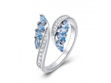 4243 Strieborný prsteň VODA