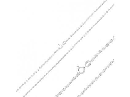 15452 zatoceny 45cm stribrny retizek