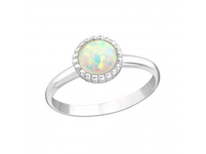 15569 detsky stribrny prstynek bily opal od olivie