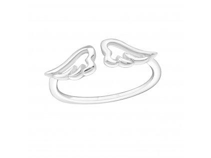 15644 stribrny midi prsten andelska kridla