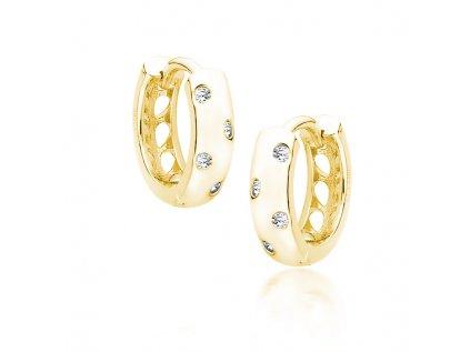 16043 stribrne krouzky gold pozlacene od olivie