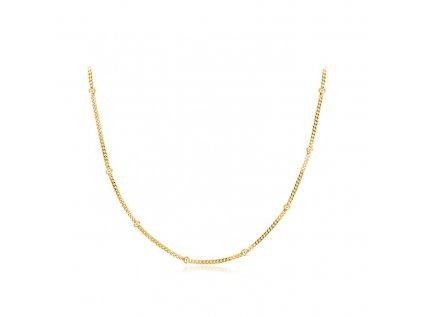 16343 choker gold pozlaceny kulickovy stribrny retizek od olivie 35 5 cm
