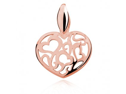16541 stribrny privesek ruzove srdce ruzove pozlacene od olivie