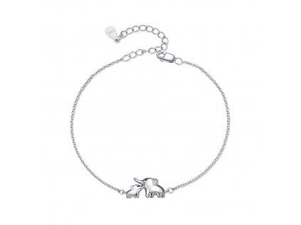17432 3 stribrny detsky naramek sloni stesti od olivie darek pro deti