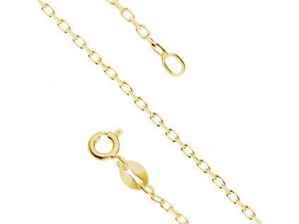 17729 1 stribrny 50cm pozlaceny retizek rolo gold od olivie