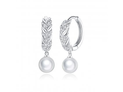 18373 stribrne krouzkove nausnice s perlou a vsazenymi zirkony od olivie platinove pokoveni