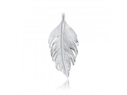 18721 stribrny privesek pirko ochranny amulet pericko od olivie cz