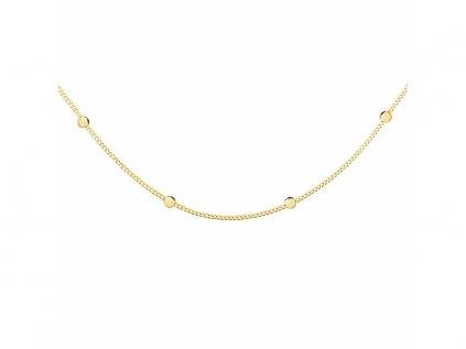 5257 CHOKER guličková strieborná retiazka MARRY GOLD  Ag 925; ≤1,75 g.