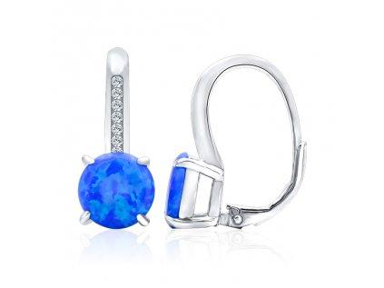 18895 stribrne visaci nausnice s modrym opalem od olivie cz nejkrasnejsi darek pro zenu k vanocum narozeninam vyroci