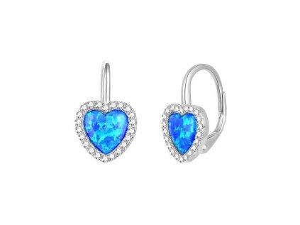 18901 stribrne nausnice srdce modry opal od olivie
