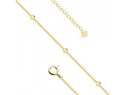 19000 stribrny retizek na nohu marry gold pozlaceny s kulickami od olivie cz
