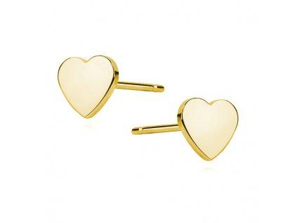 19075 stribrne nausnice zlate srdce koupite online na olivie cz