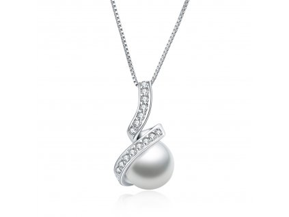 Strieborný náhrdelník SLADKOVODNÁ PERLA