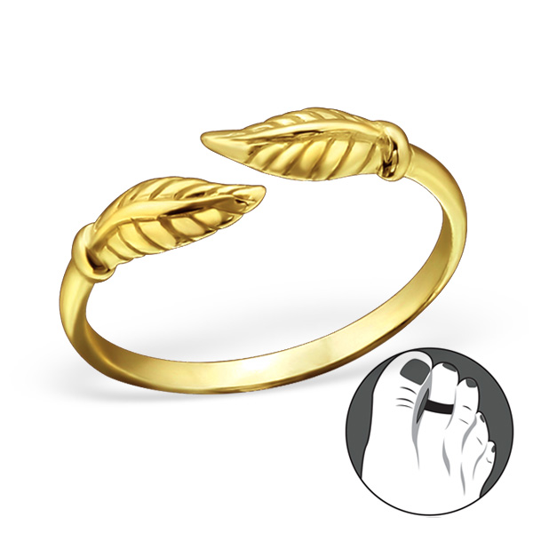 OLIVIE Strieborný prsteň na nohu GOLD 0257 Ag 925; ≤0,75 g.