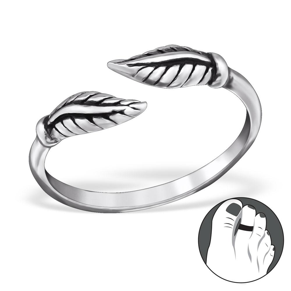 OLIVIE Strieborný prsteň na nohu 0460 Ag 925; ≤0,75 g.
