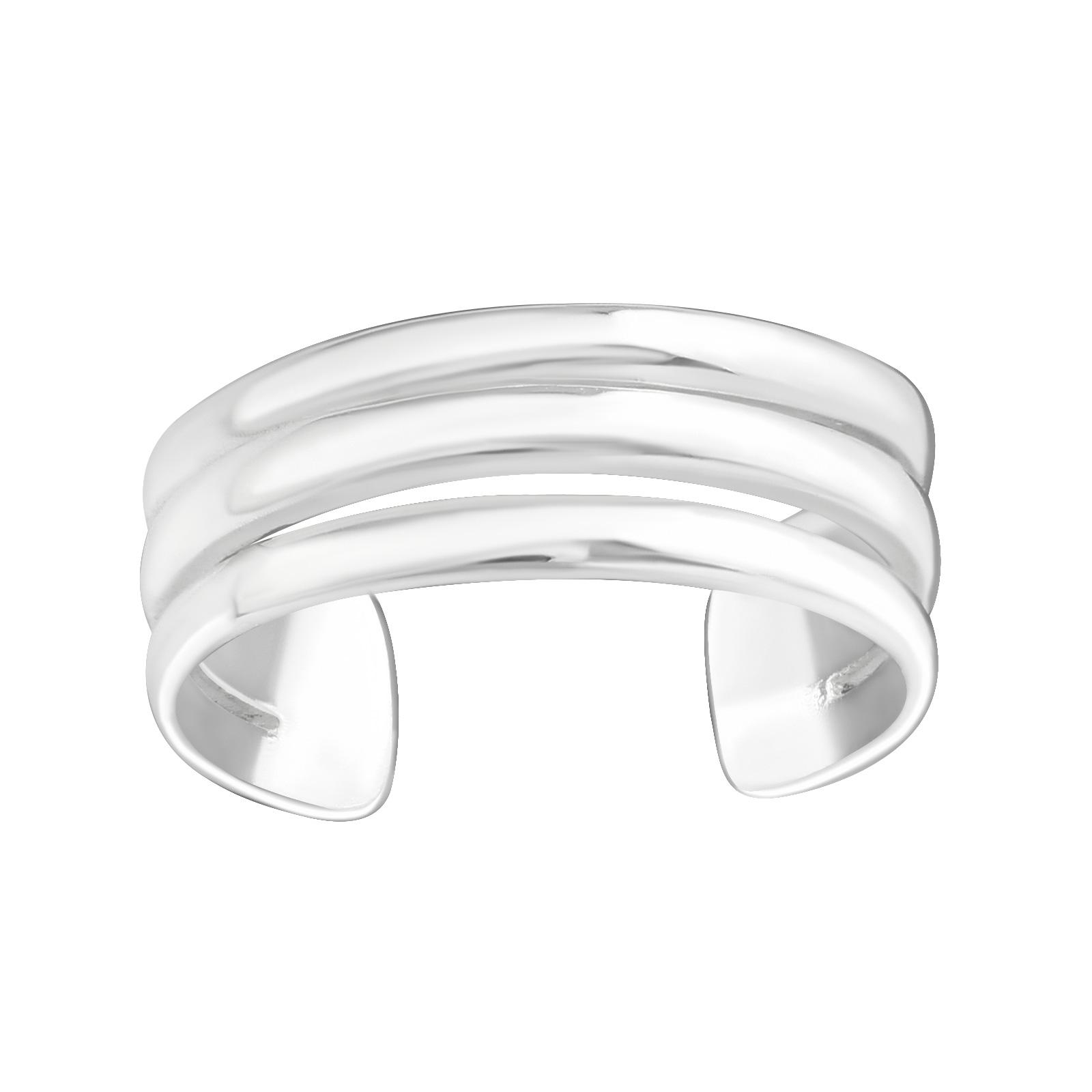 OLIVIE Strieborný prsteň na nohu 3 línie 2224 Ag 925; ≤1,4 g.