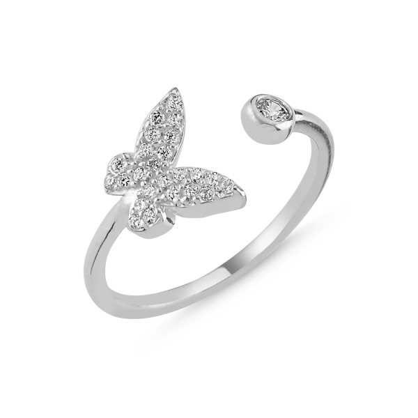 OLIVIE Strieborný prsteň MOTÝĽ - nastaviteľná veľkosť 2301 Ag 925; ≤1,85 g.