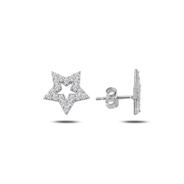 OLIVIE Strieborné náušnice HVIEZDA 2313 Ag 925; ≤1,10 g.
