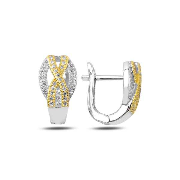 OLIVIE Luxusné strieborné náušnice so zirkónmi 2362 Ag 925; ≤4,45 g.