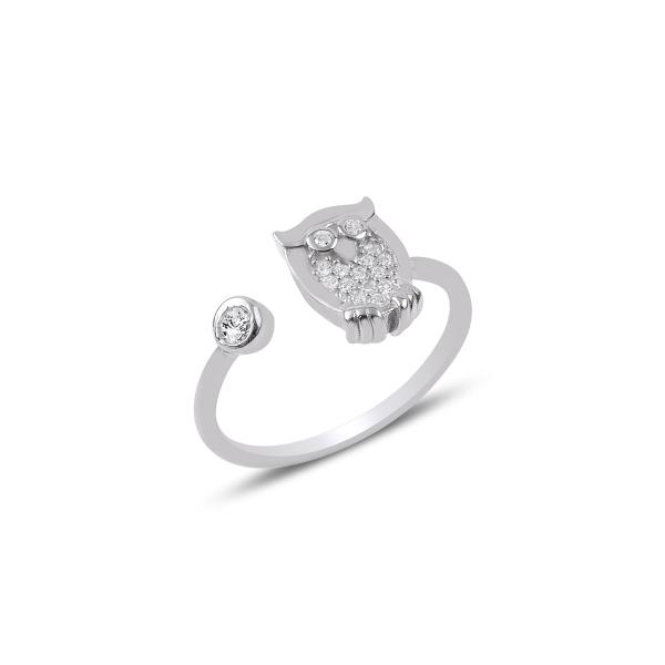 OLIVIE Strieborný prsteň SOVA 2575 Ag 925; ≤1,8 g.