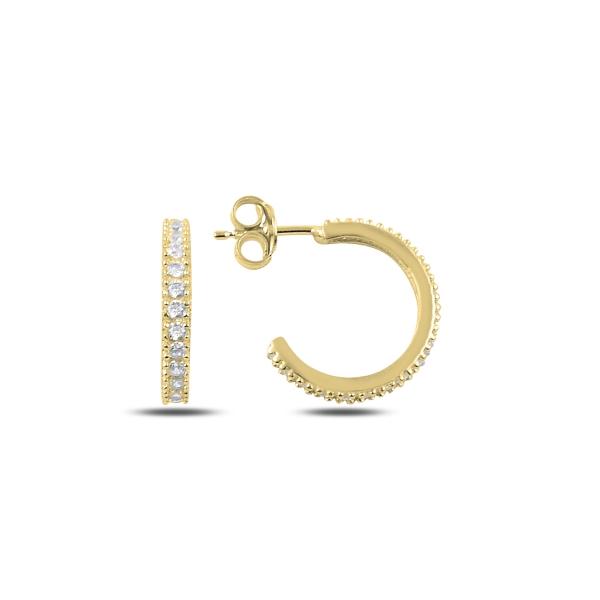 OLIVIE Strieborné náušnice polkruh GOLD 2630 Ag 925; ≤2 g.