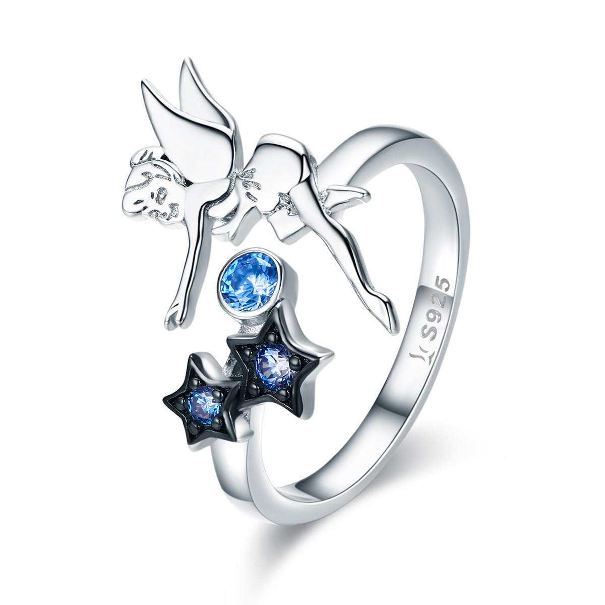 OLIVIE Strieborný prsteň VÍLA 2948 Ag 925; ≤2,5 g.