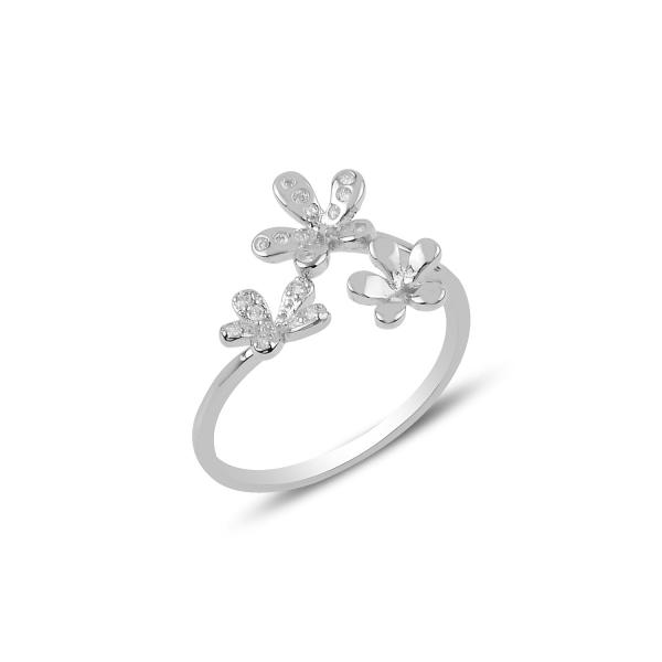OLIVIE Strieborný kvetinový prsteň 3164 Ag 925; ≤1,5 g.