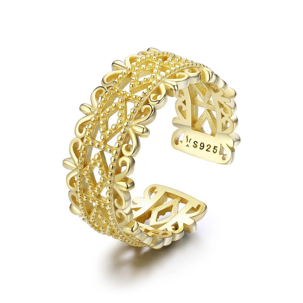 OLIVIE Strieborný pozlátený prsteň 3243 Ag 925; ≤3,2 g.