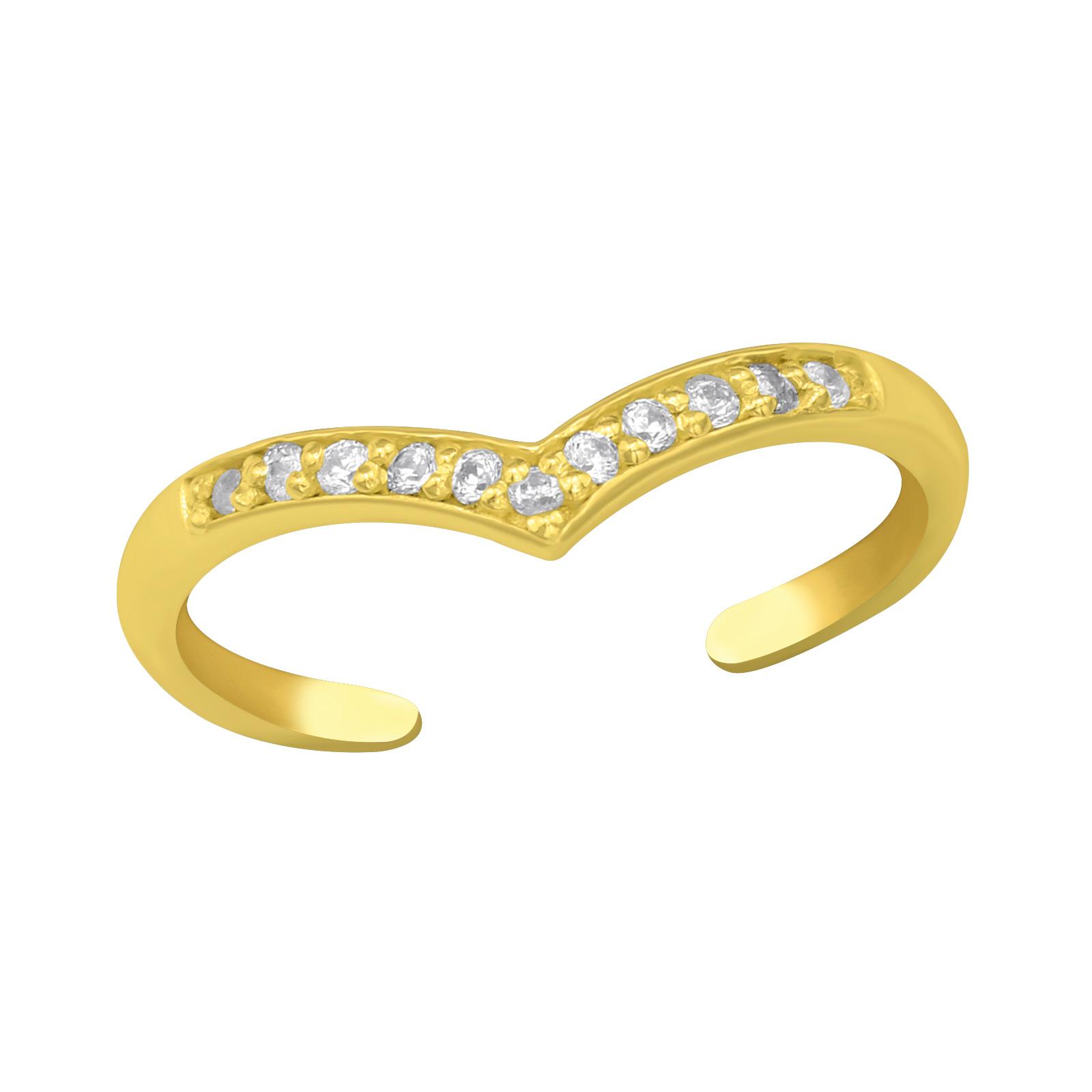 OLIVIE Strieborný prsteň na nohu GOLD 4010 Ag 925; ≤0,65 g.