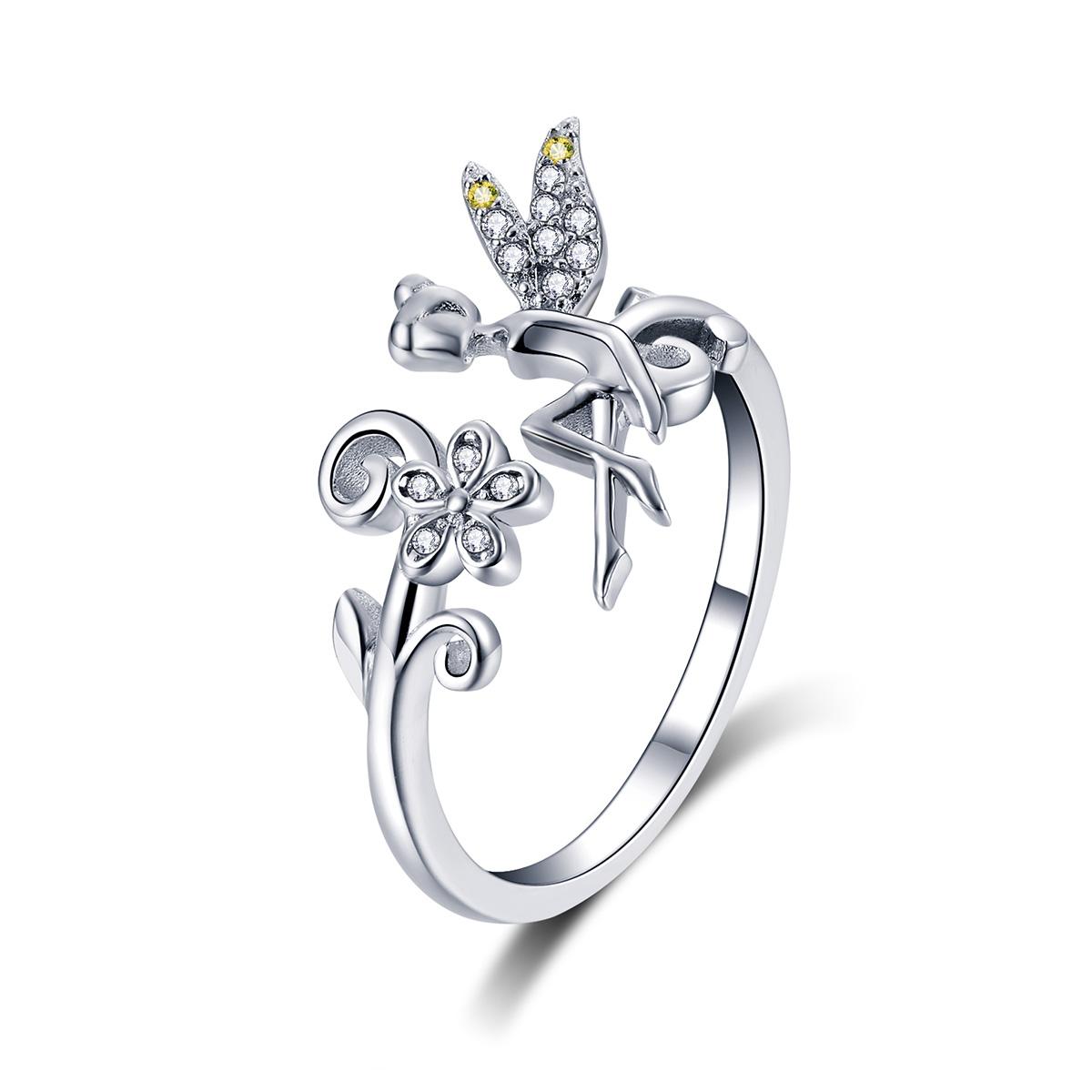 OLIVIE Strieborný prsteň LESNÍ VÍLA 4242 Ag 925; ≤2,5 g.