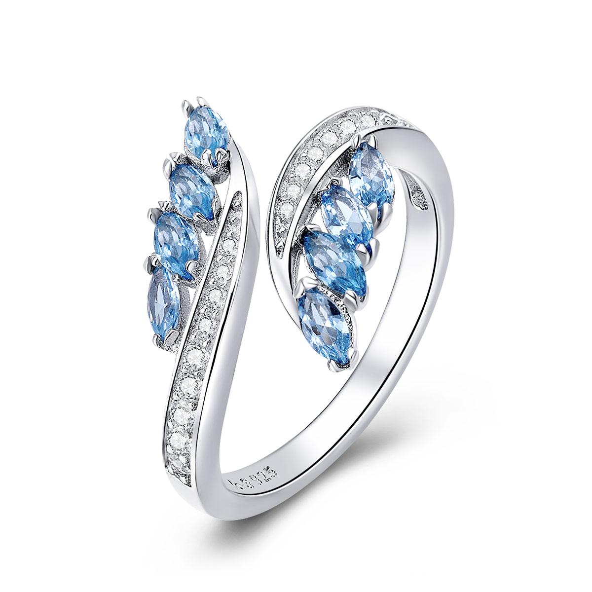 OLIVIE Strieborný prsteň VODA 4243 Ag 925; ≤2,4 g.