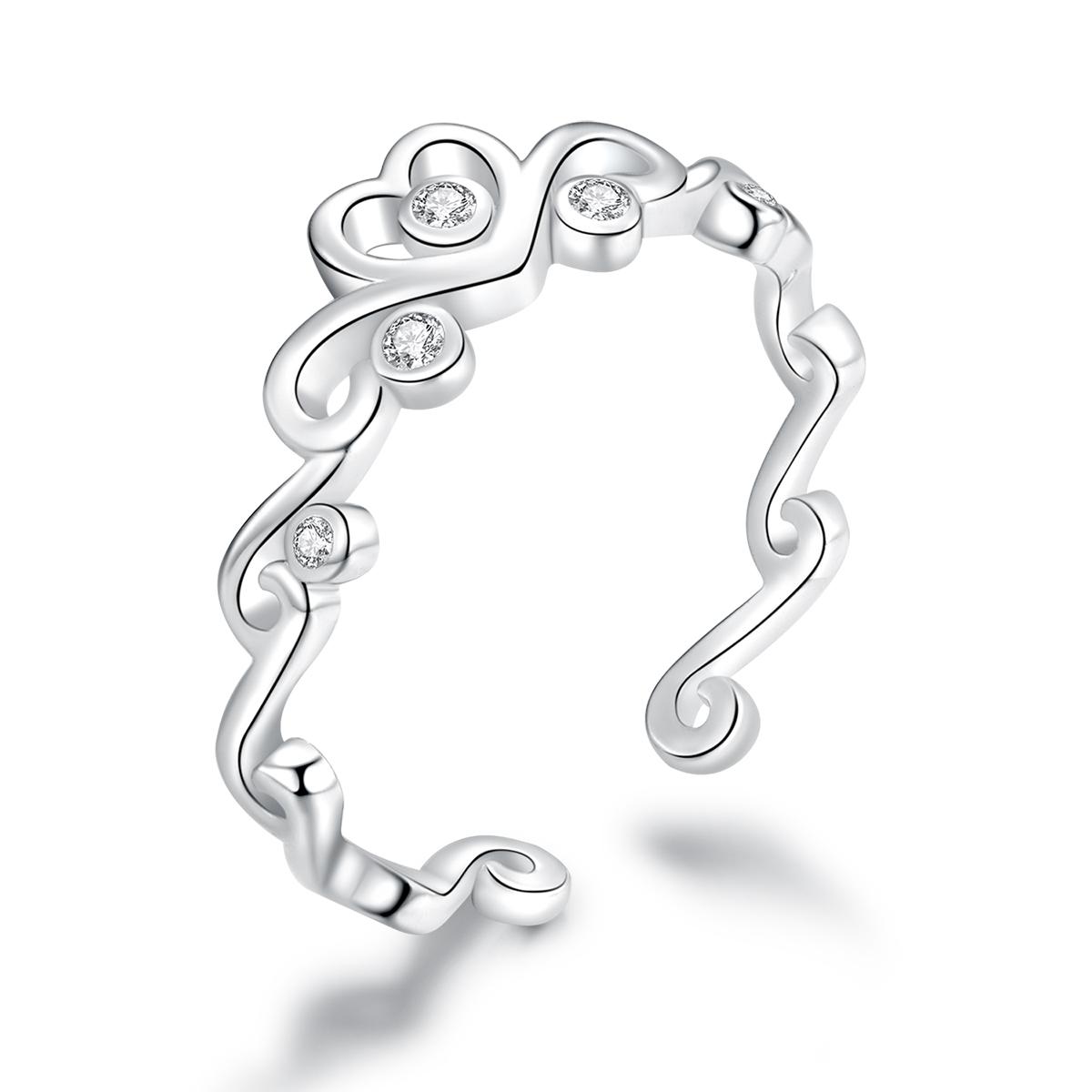 OLIVIE Strieborný prsteň LÁSKA 4245 Ag 925; ≤1,3 g.