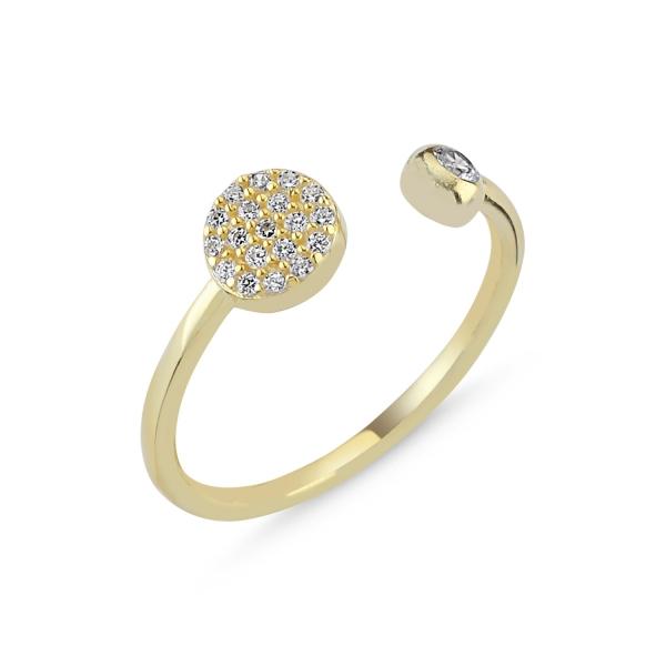 OLIVIE Strieborný prsteň GOLD - nastaviteľná veľkosť 4294 Ag 925; ≤1,6 g.