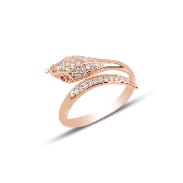 OLIVIE Strieborný prsteň RUŽOVÝ HAD 4366 Ag 925; ≤2 g.