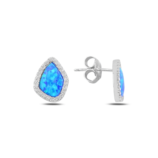 OLIVIE Strieborné asymetrické náušnice Opál 4389 Ag 925; ≤1,9 g.