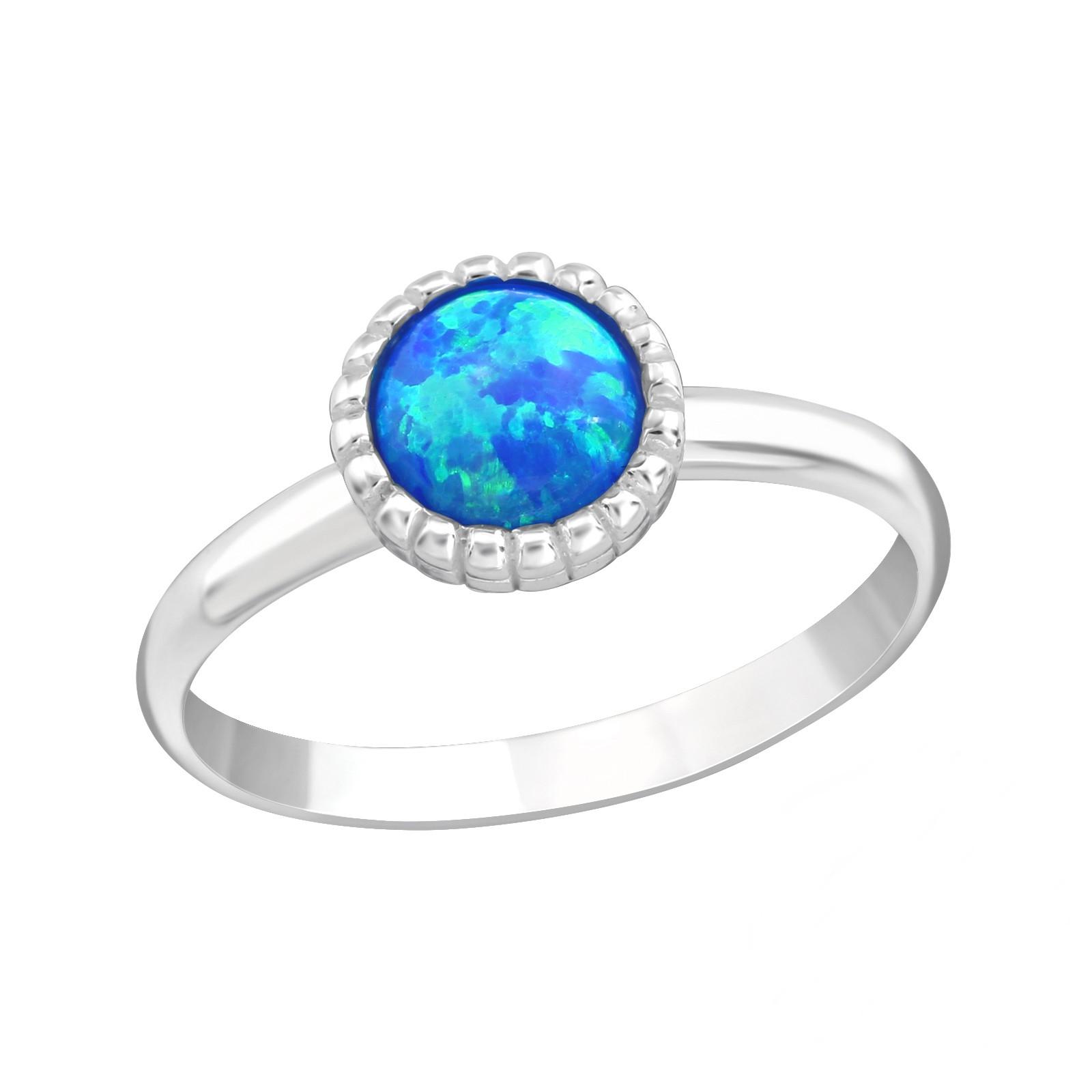 OLIVIE Detský strieborný prsteň MODRÝ OPÁL 4431 Ag 925; ≤1 g.