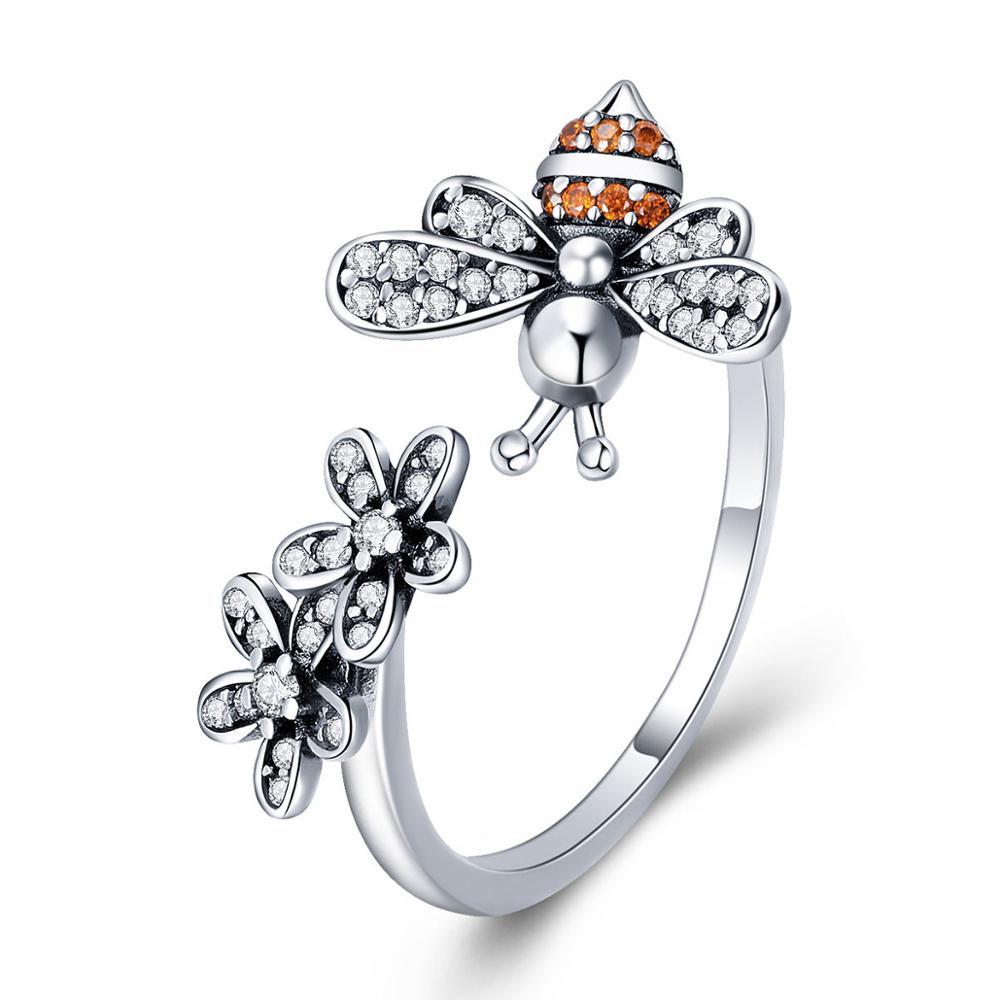 OLIVIE Strieborný prsteň VČIELKA 4897 Ag 925; ≤2,3 g