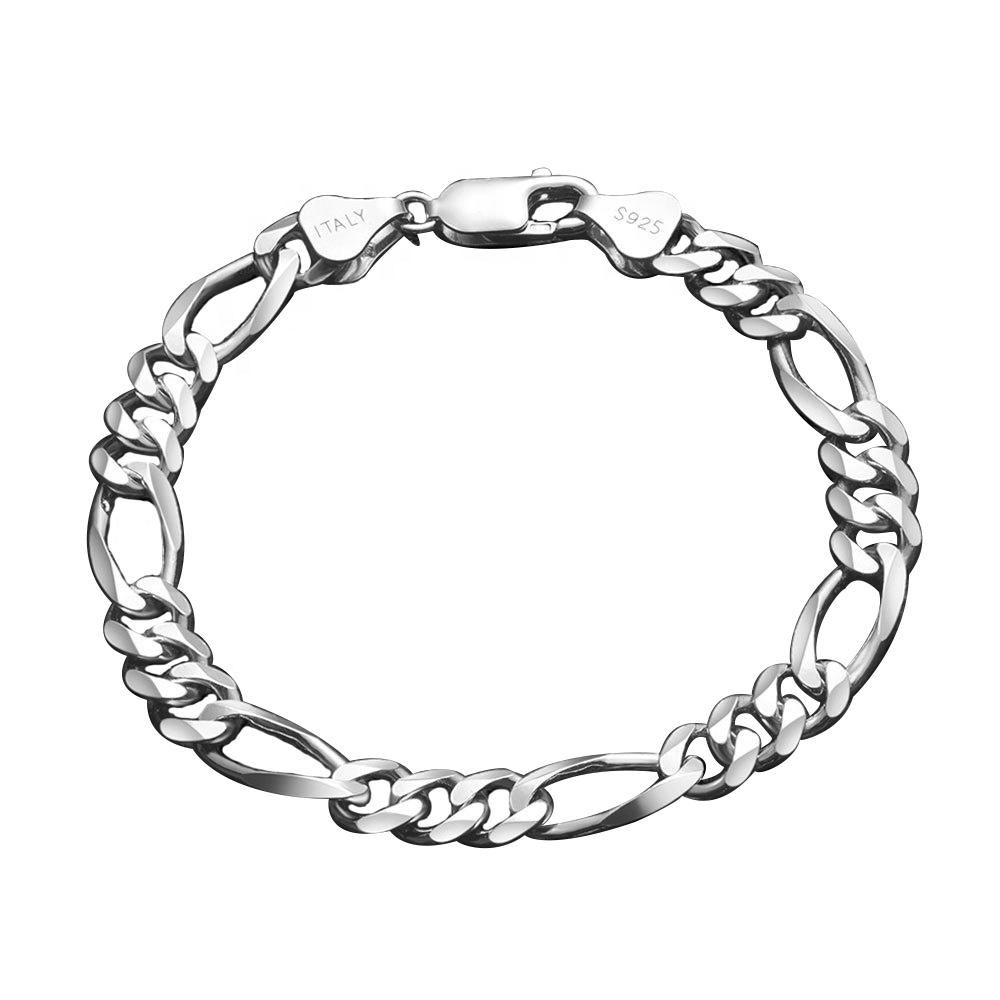 OLIVIE Stříbrný 18cm náramek FIGARO 4952 Ag 925; ≤4 g.