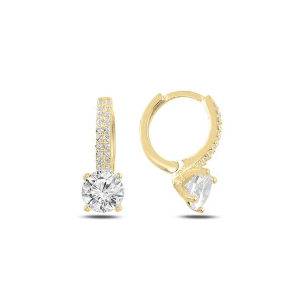 OLIVIE Strieborné krúžkové náušnice GOLD 4989 Ag 925; ≤3,6 g.