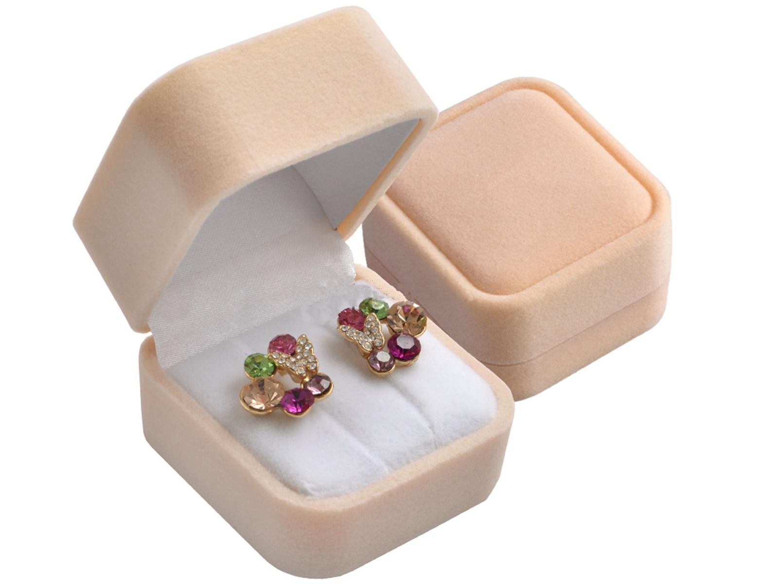 OLIVIE Zamatová darčeková krabička na náušnice 5126