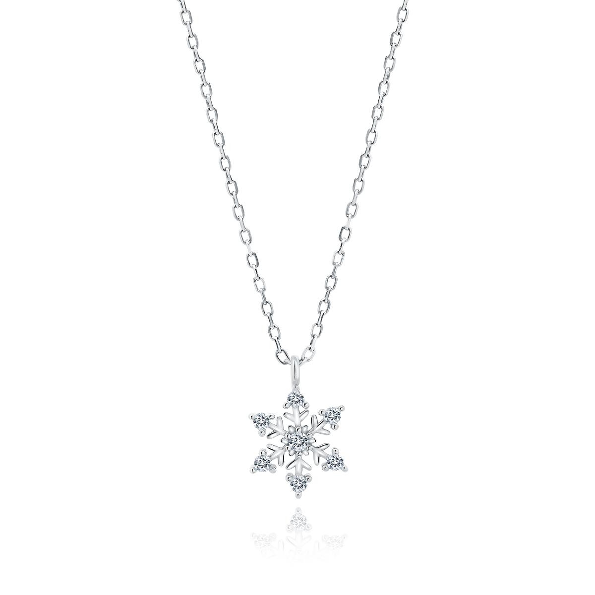 OLIVIE Strieborný náhrdelník SNEHOVÁ VLOČKA 5286 Ag 925; ≤1,6 g.