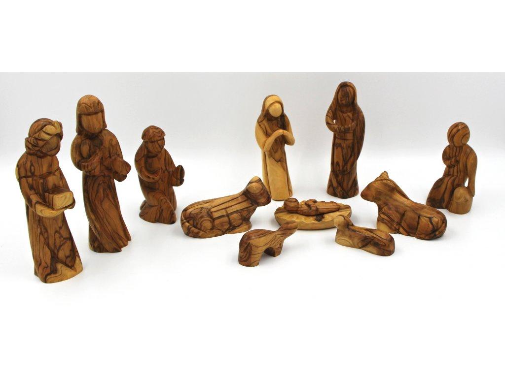 Dřevěny betlém 17 cm
