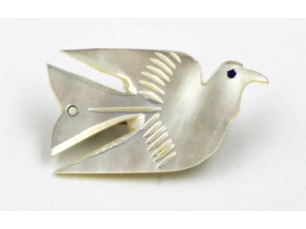 Brož perleťová holubička