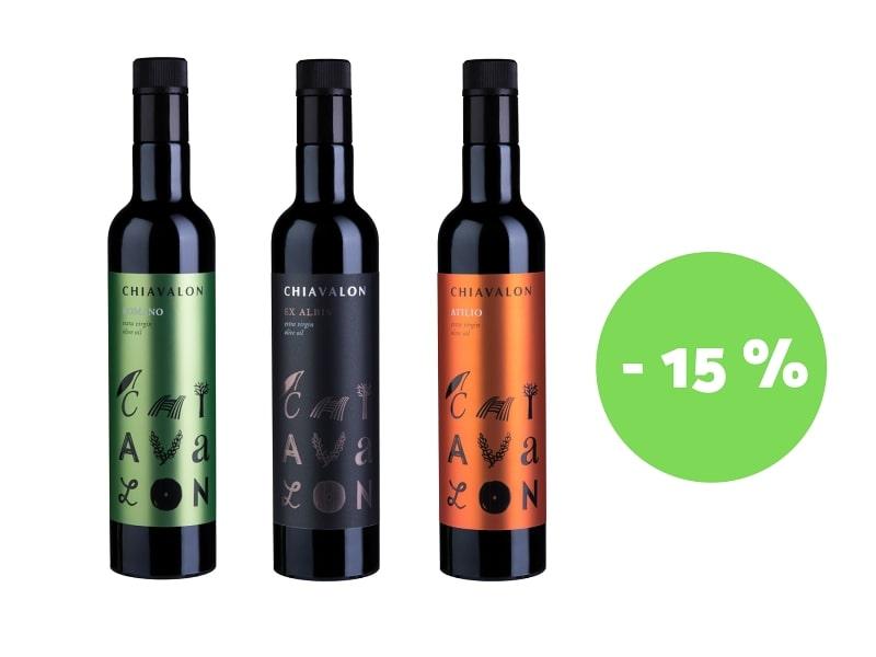 Vybrané olivové oleje Chiavalon se slevou 15%