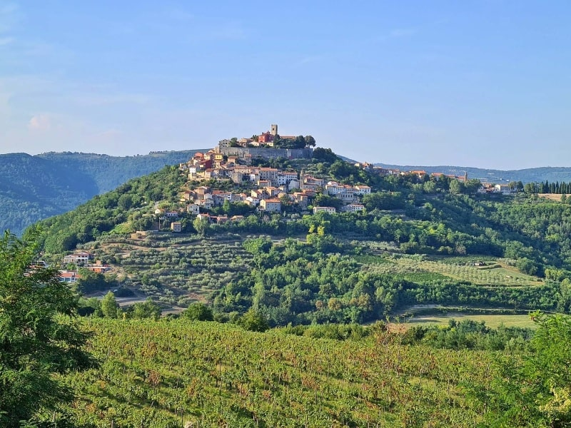 Motovun – městečko na kopci