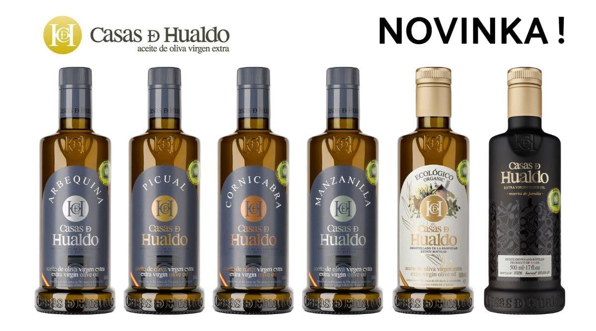 Nové španělské prémiové olivové oleje Casas de Hualdo