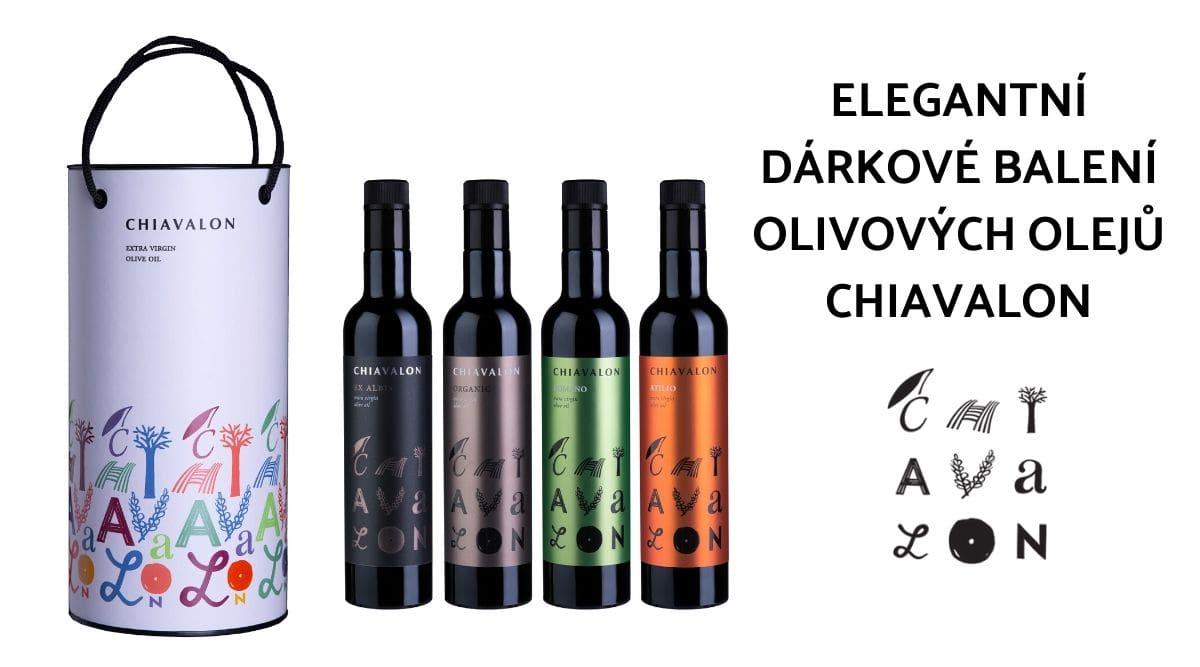 Elegantní dárkové balení olivových olejů Chiavalon