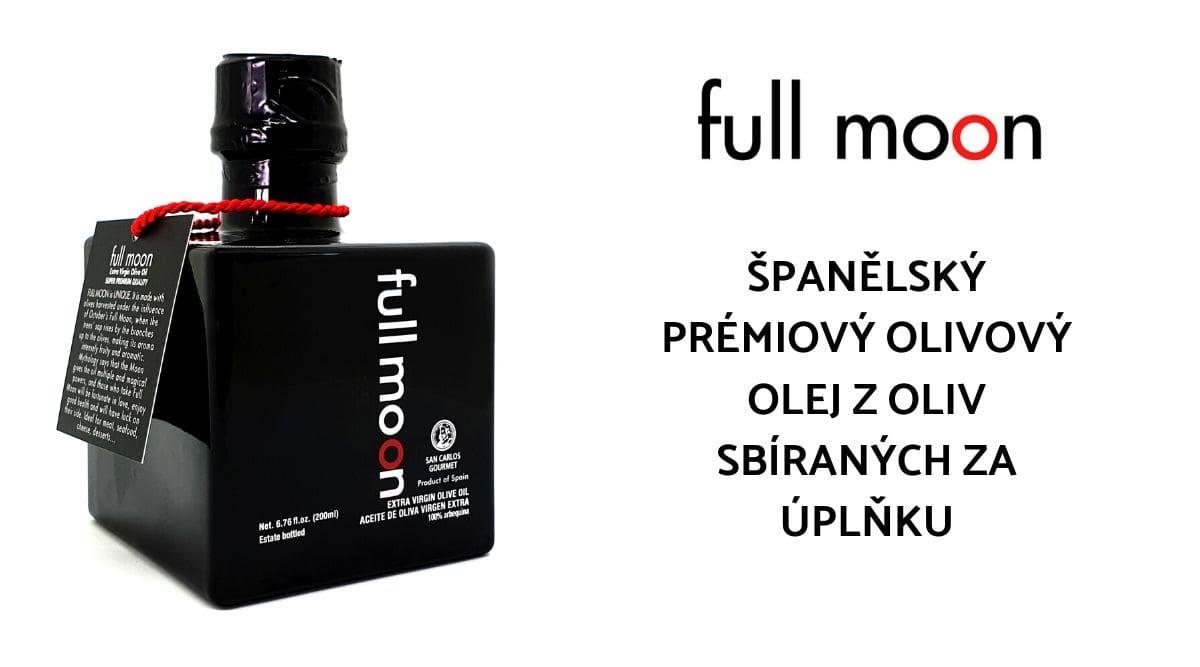 Španělský prémiový olivový olej z oliv sbíraných za úplňku